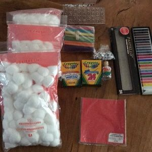 Bundle of arts and crafts supplies